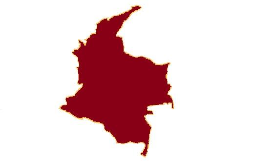 Mapa-mudo-de-Colombia